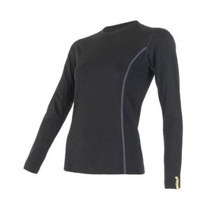 Damskie koszulka Sensor Merino Wool Active czarne 11109024