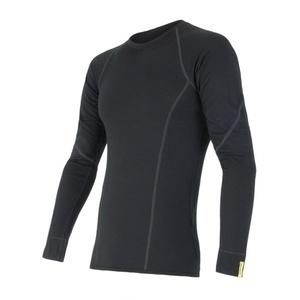 Męskie koszulka Sensor Merino Wool Active czarne 11109033