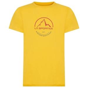 Męskie koszulka La Sportiva Logo Tee yellow, La Sportiva