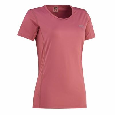 Damskie koszulka Kari Traa Nora Tee 622638, różowa, Kari Traa