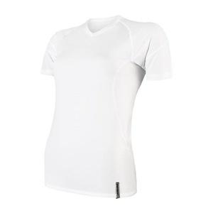 Damskie koszulka Sensor Coolmax TECH krótki rękaw biała 20100022, Sensor