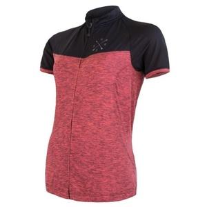 Damski bluza Sensor Cyklo Motion krótki rękaw rozpinana różowy/czarny 20100059, Sensor