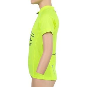 Dziecięcy cyklo bluza Sensor ENTRY krótki rękaw reflex żółty Clown 20100065, Sensor