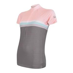 Damski rowerowy bluza Sensor SUMMER STRIPE szara / różowa 20100063, Sensor