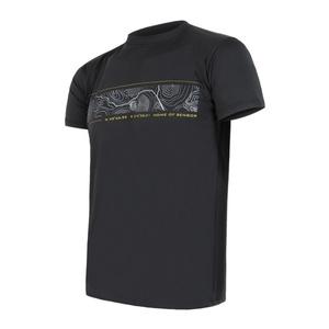 Męskie koszulka Sensor PT Coolmax Fresh GPS czarne 11101018, Sensor