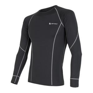 Męskie koszulka Sensor Coolmax Fresh czarne 11101003, Sensor