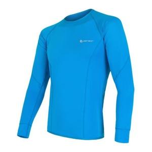 Męskie koszulka Sensor Coolmax Fresh niebieskie 13000008, Sensor