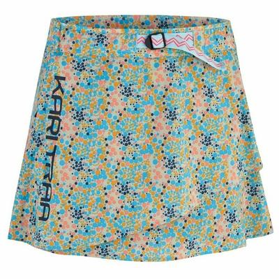 Damska sportowa spódnica z zintegrowany spodenki Curry Traa Signe skort 622803, niebieska, Devold