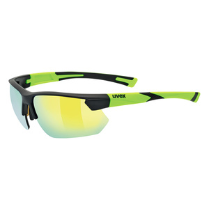 Sportowe okulary Uvex SPORTSTYLE 221, Black Mat Yellow (2616), Uvex
