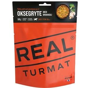 Real Turmat Duszone wołowina z ryżą i brokułą, 120 g, Real Turmat