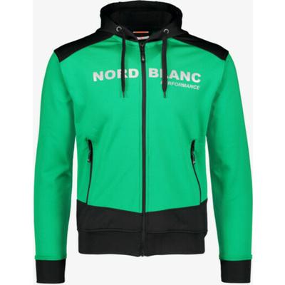 Męska bluza sportowa Nordblanc z kapturem NBSMS5615_ZLN, Nordblanc