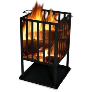 Kwadratowe ognisko SOL kosz 45x45 cm, Lucifer