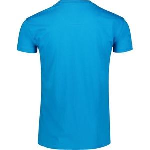 Męskie bawełna koszulka NORDBLANC Remiss NBSMT6815_AZR, Nordblanc