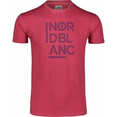 Męska koszula bawełniana Nordblanc OBOWIĄZKOWE winowa NBSMT7258_HCA