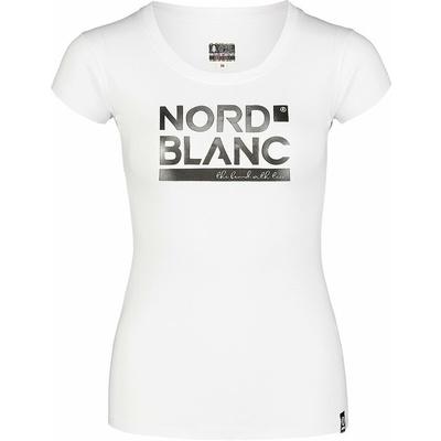 Damski bawełniany t-shirt NORDBLANC Ynud biała NBSLT7387_BLA, Nordblanc