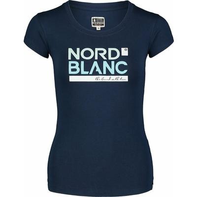 Damski bawełniany t-shirt NORDBLANC Ynud niebieska NBSLT7387_MOB, Nordblanc