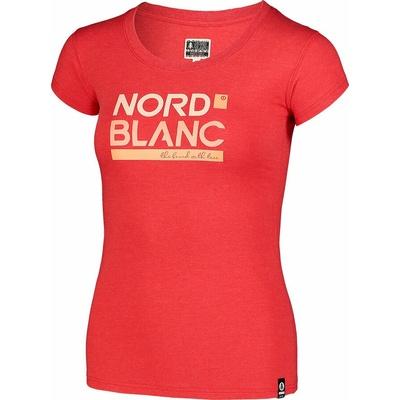 Damski bawełniany t-shirt NORDBLANC Ynud czarny NBSLT7387_TCV, Nordblanc
