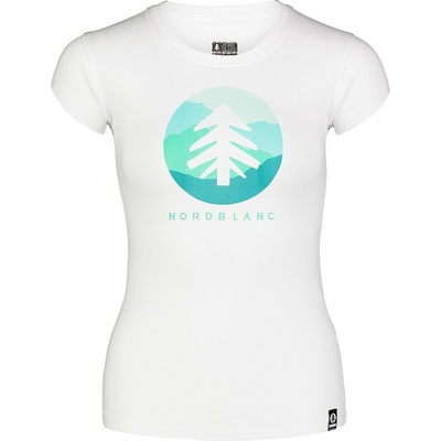 Damski bawełniany t-shirt NORDBLANC Suntre biała NBSLT7388_BLA, Nordblanc