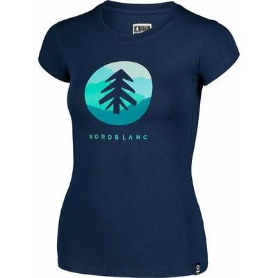 Damski bawełniany t-shirt NORDBLANC Suntre niebieska NBSLT7388_MOB, Nordblanc