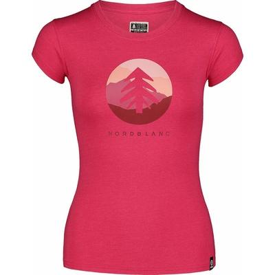 Damski bawełniany t-shirt NORDBLANC Suntre różowa NBSLT7388_RZO, Nordblanc