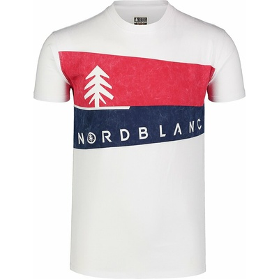 Koszulka męska Nordblanc Graphic biały NBSMT7394_BLA, Nordblanc