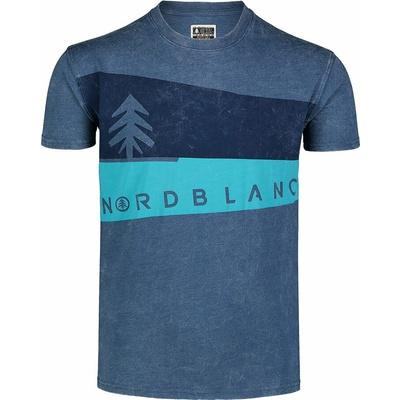 Koszulka męska Nordblanc Graphic niebieski NBSMT7394_SRM, Nordblanc