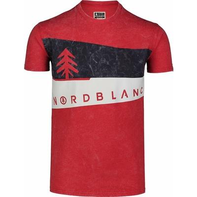 Koszulka męska Nordblanc Graficzny czarny NBSMT7394_TCV, Nordblanc