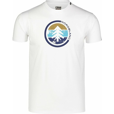 Męska koszula bawełniana Nordblanc TRICOLOR białe NBSMT7397_BLA