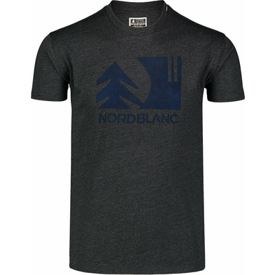 Męska koszula bawełniana Nordblanc TREETOP czarny NBSMT7399_CEM