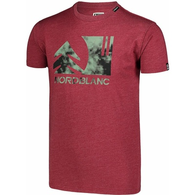 Męska koszula bawełniana Nordblanc TREETOP winowe NBSMT7399_HCA