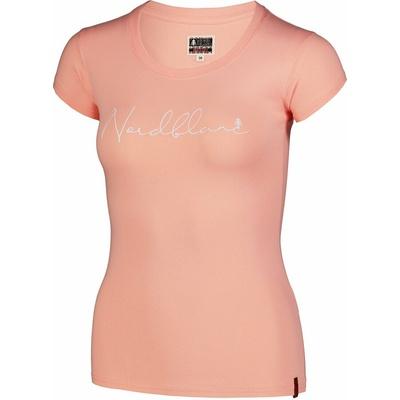 Damski bawełniany t-shirt NORDBLANC Kaligrafia pomarańczowy NBSLT7400_JME, Nordblanc