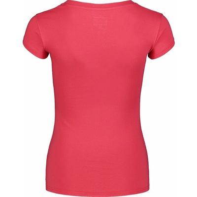 Damski bawełniany t-shirt NORDBLANC Kaligrafia różowa NBSLT7400_RUP, Nordblanc