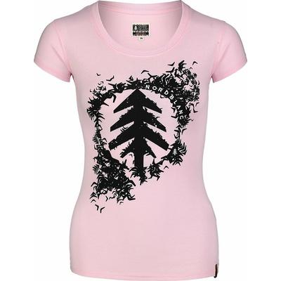 Damski bawełniany t-shirt NORDBLANC Flock różowa NBSLT7401_RUT, Nordblanc