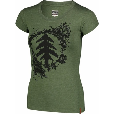 Damski bawełniany t-shirt NORDBLANC Flock zielony NBSLT7401_ZSA, Nordblanc