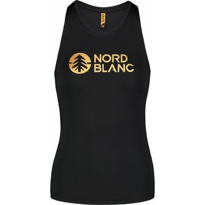 Fitness kobiet podkoszulka Nordblanc Balsam czarny NBSLF7446_CRN