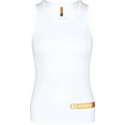 Fitness kobiet podkoszulka Nordblanc Aero biały NBSLF7447_BLA, Nordblanc