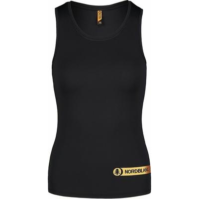 Fitness kobiet podkoszulka Nordblanc Aero czarny NBSLF7447_CRN, Nordblanc