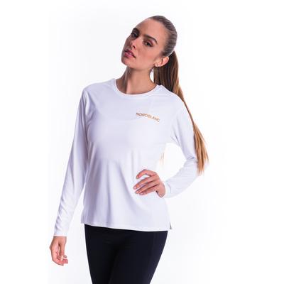 Damskie koszulka fitness Nordblanc Clash biały NBSLF7448_BLA, Nordblanc