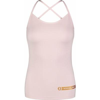 Fitness kobiet podkoszulka Nordblanc Strappy różowy NBSLF7449_BRR, Nordblanc