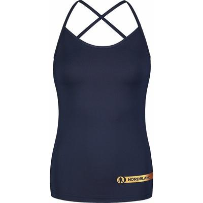 Fitness kobiet podkoszulka Nordblanc Strappy niebieski NBSLF7449_NMM, Nordblanc