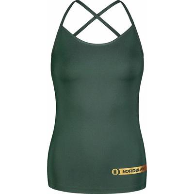 Fitness kobiet podkoszulka Nordblanc Strappy Zielony NBSLF7449_TZE, Nordblanc