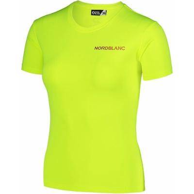 Funkcjonalne dla kobiet koszulka Nordblanc Training żółty NBSLF7450_BPZ, Nordblanc