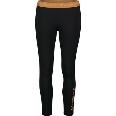 Fitness kobiet legginsy Nordblanc Elastyczność czarno-pomarańczowy NBSPL7454_CRN, Nordblanc
