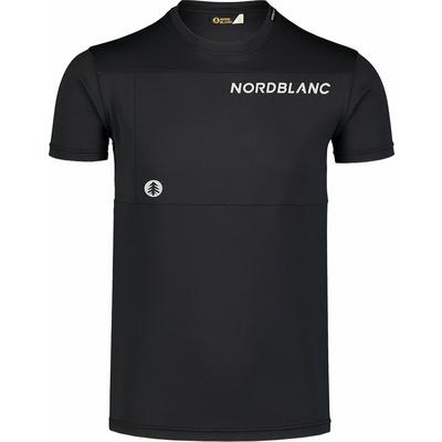 Męska koszulka fitness Nordblanc Rosną czerń NBSMF7460_CRN