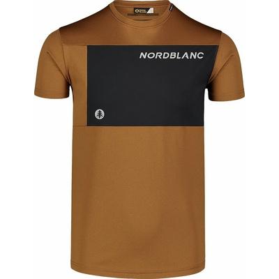 Męska koszulka fitness Nordblanc Grow brązowy NBSMF7460_PUH, Nordblanc