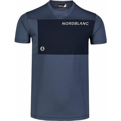 Męska koszulka fitness Nordblanc Grow niebieski NBSMF7460_SRM