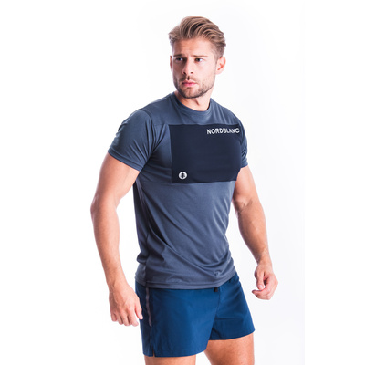 Męska koszulka fitness Nordblanc Grow niebieski NBSMF7460_SRM, Nordblanc