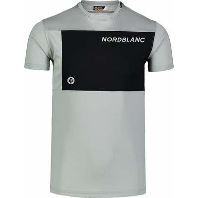 Męska koszulka fitness Nordblanc Grow szary NBSMF7460_SSM