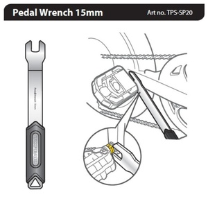 klucz Topeak Pedał Wrench 15mm TPS-SP20, Topeak