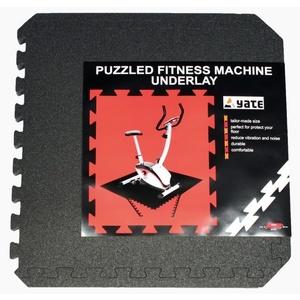 Podkładka Yate FITNESS Puzzle MAT 55X55X0,8 CM, SET 4 KS, czarny, Yate